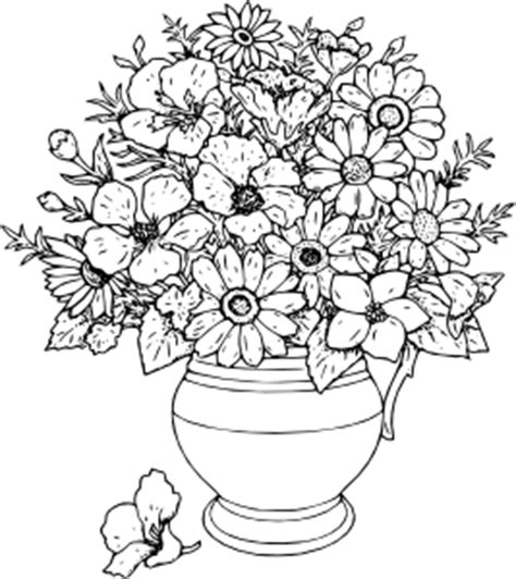 vase of flowers clip free vector 4vector