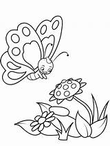 Butterfly Coloring Colouring Children Young Printable Peaksel sketch template
