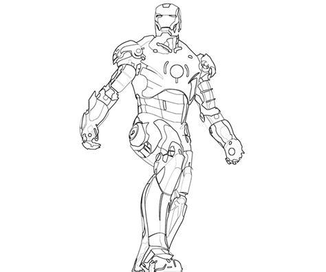 coloriage iron man les beaux dessins de super heros  imprimer  colorier page