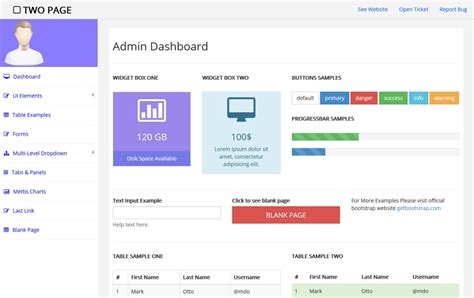 bootstrap admin template free 100 best free bootstrap admin templates 187 css author