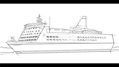 How To Draw A Cruise Ship - YouTube