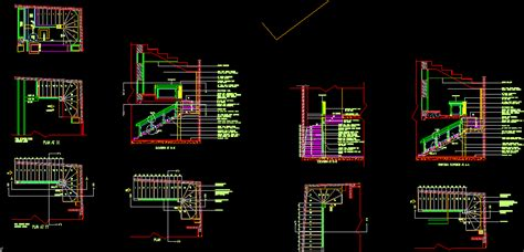 staircase detail drawing dwg detail for autocad designscad