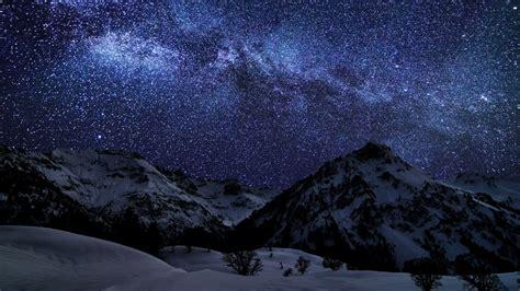 Hd Wallpaper Laptop by Hd Mountains Way Galaxy Light Show