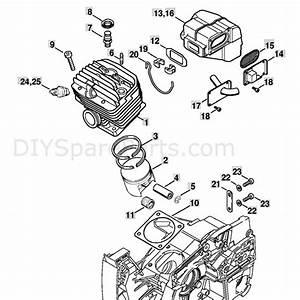 Stihl Ms 880 Chainsaw  Ms880 Z  Parts Diagram  Cylinder