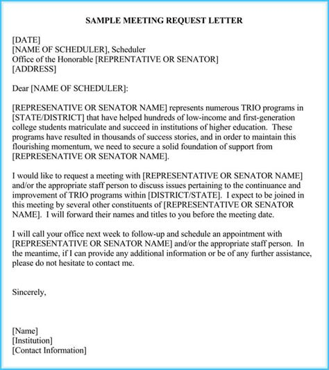 sample appointment request letter  formats  word