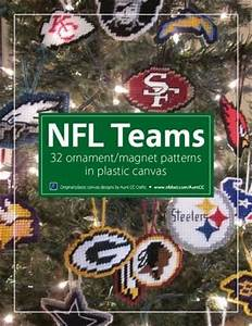 NFL themed Christmas ornaments in plastic canvas eBook of