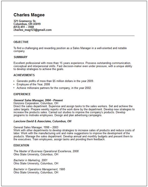 warehouse general labor resume sle 28 images best sle resume general manager construction company