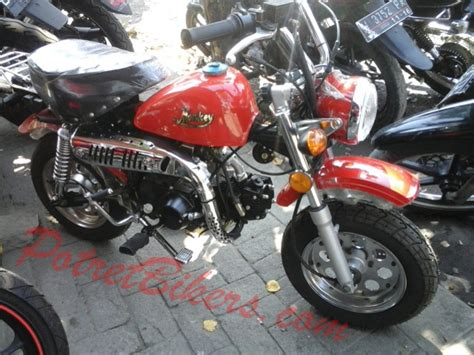 Modification Gazgas Gorilla 110 by Gaz Gas Monkey 107 Cc Motor Mini Classic Yang Imoet