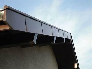 comment poser une planche de rive With couleur gris anthracite peinture 11 toit plat bac acier