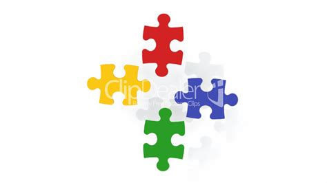 Puzzle Le Anleitung Bunte Puzzle Teile Royalty Free And Stock Footage
