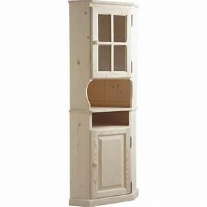 Meuble Bois Brut : meuble d 39 angle haut en bois brut ncm2750v aubry gaspard ~ Teatrodelosmanantiales.com Idées de Décoration