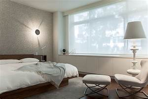 Window coverings ideas bedroom modern with area rug built for Modern bedroom window coverings
