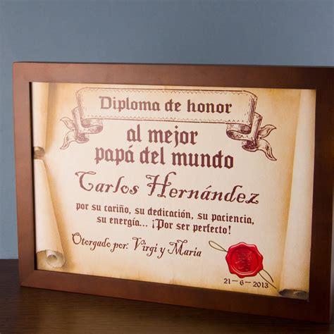 diploma pergamino al mejor padre