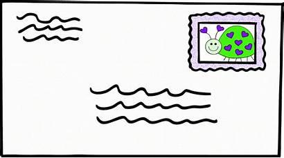 Envelope Letter Clip Clipart Stamped Letters Cliparts