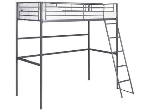 lit mezzanine metal avec bureau lit mezzanine 90x190 cm line coloris gris vente de