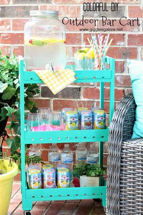 decoart blog diy colorful diy outdoor bar cart