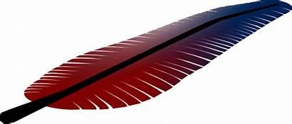 Feather Colored Clip Clipart Svg Pluma Clker