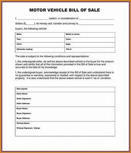 sample bill of sale for car notary letter With bill of sale template for a car