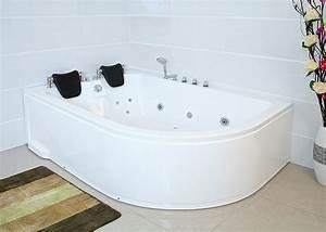 Badewanne Mit Whirlpool Für 2 Personen : xxl whirlpool badewanne links 180x120 cm mit 14 massage d sen mit armaturen f r 2 personen ~ Bigdaddyawards.com Haus und Dekorationen