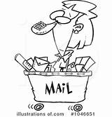 Postal Worker Mail Clipart Template Illustration Templates sketch template