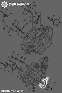 Chain - Oil Pump  500-700cc  Hisun  Atv  04ch-70