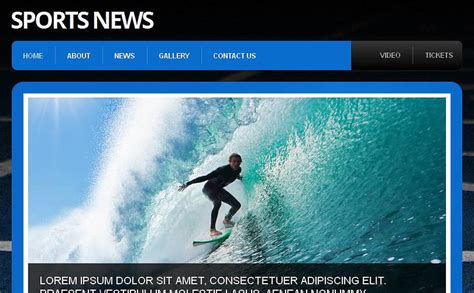Sports News Facebook Html Cms Template
