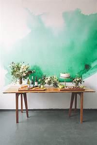 Alternative Zu Tapete : watercolor mural wohnk che hintergr nde und tapeten ~ Michelbontemps.com Haus und Dekorationen