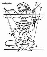 Coloring Puppet Cowboy Clem sketch template