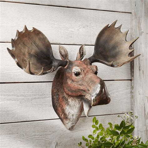 moose head bust wall hanging