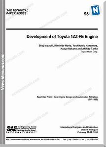 Toyota Engine 1zz Fe Repair Manual