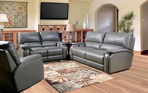 gray sofa set gray leather living room set shop