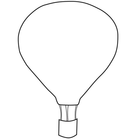 Air Balloon Template Template Air Balloon Crafty Printables