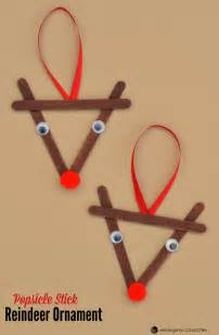 popsicle stick reindeer kid ornament
