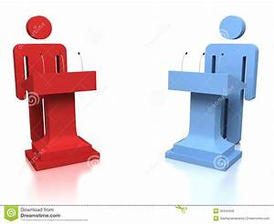 3D People Opponents In A Debate Over A White Background ...