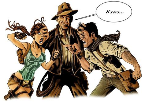 Indiana Jones Vs Nathan Drake Vs Lara Croft