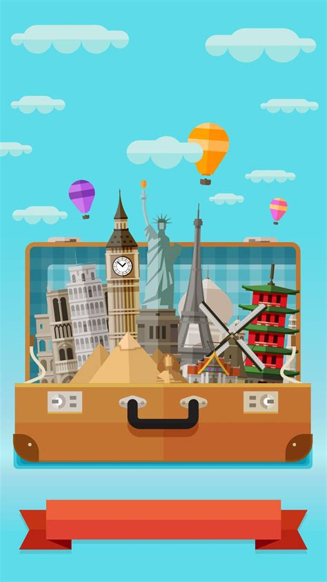 tap     app art creative sky travel bag