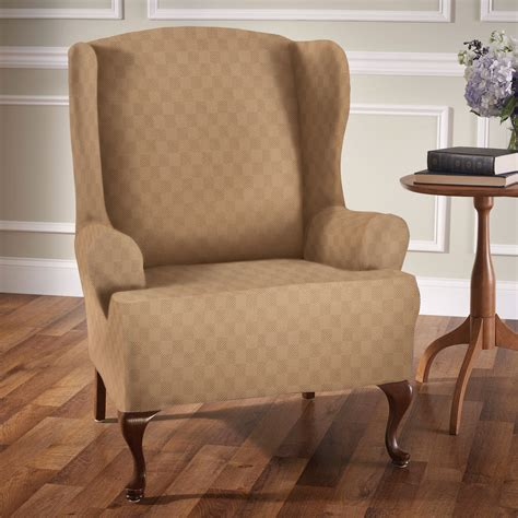 slipcovers for wing chairs newport stretch wing chair slipcovers