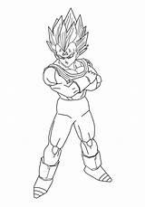 Vegeta Majin Coloring Dragon Ball Pages Drawing Lineart Dessin Coloriage Getdrawings Drawings Printable sketch template