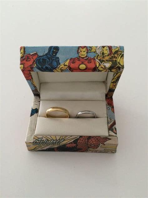 double wedding ring box superheroes double ring box superhero wedding ring bearer box