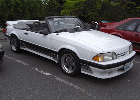 Oxford White 1988 Saleen Ford Mustang Convertible