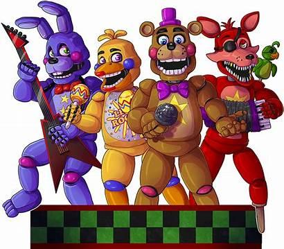 Fnaf Freddy Rockstars Rockstar Draw Pizzeria Foxy