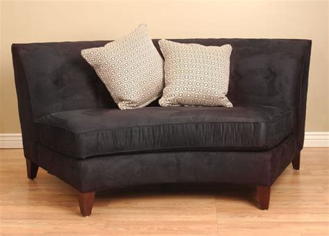 Curved Loveseat by Black Armless Curved Loveseat Free Shipping Today