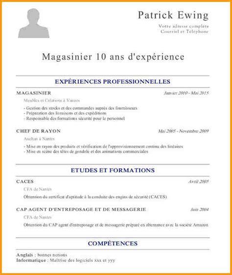 De Cv Pour étudiant by 14 Mod 232 Le Cv 233 Tudiant Classique Modele Cv