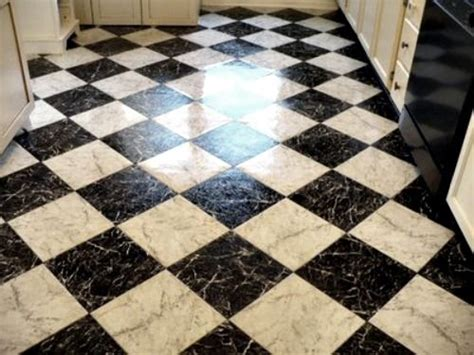 Checkered Vinyl Flooring Nz by White Black Cottage Vinyls Tile And Laundry Rooms