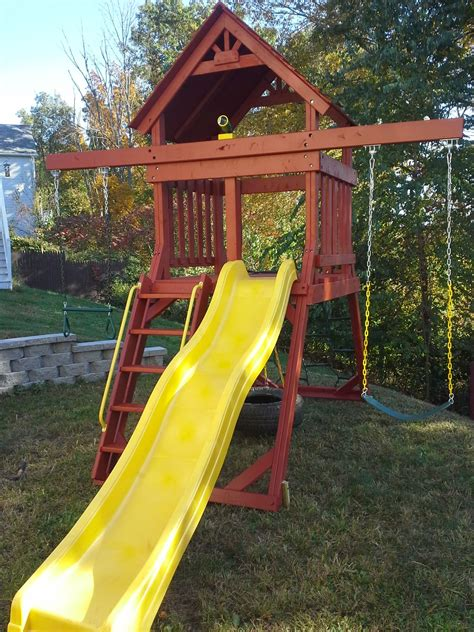 custom  space saver swing set  images