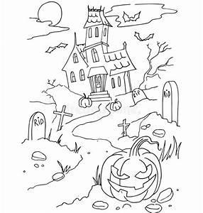 Dessin Fait Main : la coloration simple pour le th me de halloween a fait ~ Dallasstarsshop.com Idées de Décoration