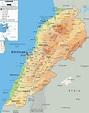 Physical Map of Lebanon - Ezilon Maps