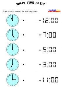 digital clock numbers printable montessori inspired