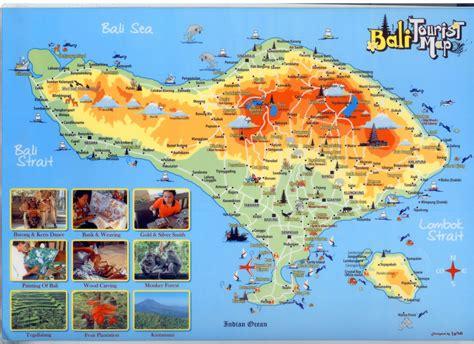 tourist map  bali indonesia maps pinterest bali