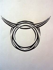 Tribal Zodiac-Taurus by MagpieVon on DeviantArt